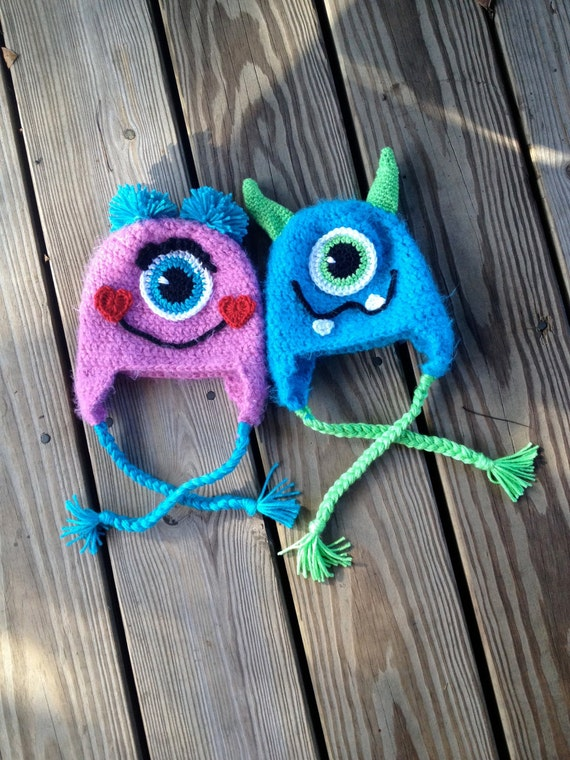 Instant Download - PDF Monster Hat Crochet Pattern - Monster - photography prop - baby hat - Halloween - Costume