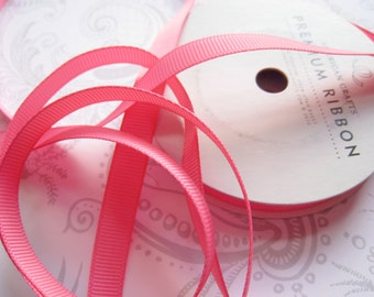 Pink Grosgrain Ribbon 3/8 -- 9 yards -- American Crafts -- Taffy -- 58460 -- 9.5mm