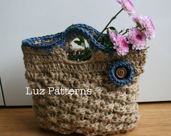 Crochet bag pattern, INSTANT DOWNLOAD crochet bag pattern vintage bag pattern - Retro Jute Summer handbag pattern (80)