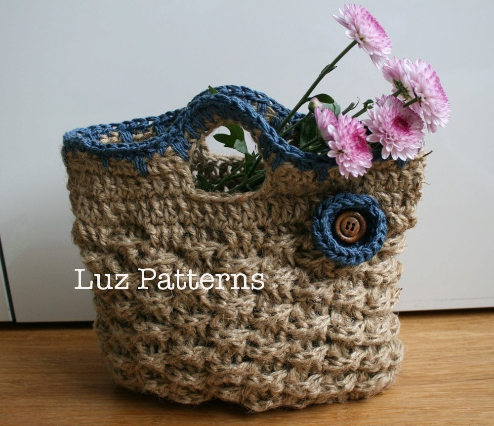 Crochet Handbag Pattern : Crochet bag pattern INSTANT DOWNLOAD crochet bag by LuzPatterns