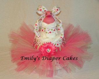 3 tier tutu diaper cake