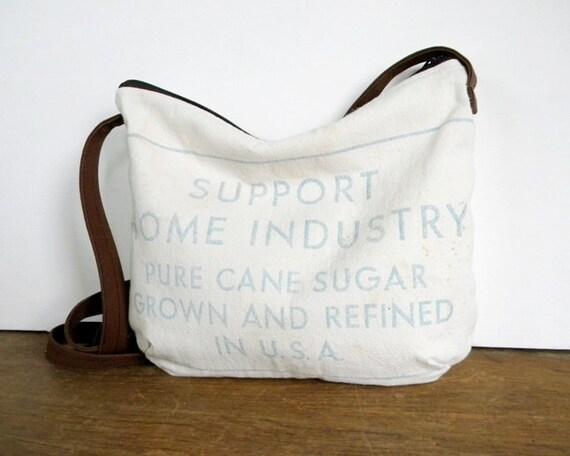 Recycled Sugar Sack Cross Body Bag