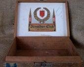 Vintage Cigar Box Wooden Storage Container 429