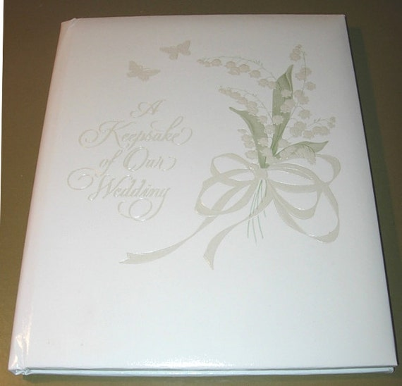 8x10 Wedding Albums: Vintage 70s Hallmark Wedding Keepsake Album Book By