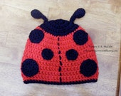 Ladybug and Love bug Hat Pattern - Crochet Pattern 22 - Newborn to Adult sizes - us and uk Terms - INSTANT DOWNLOAD