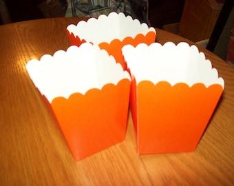 Mini Orange Popcorn .Boxes Movie Night, Party Set of 12