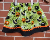 Girls Halloween skirt, Made to order 12 month or 2t