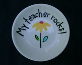 50% OFF Ring Dish, Trinket Dish, Coin Dish, Soap Dish...Hand Painted...Great for all your little trinkets.  Great Teacher Gift