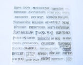 A Sentiment for Every Occasion Clear Stamp Set