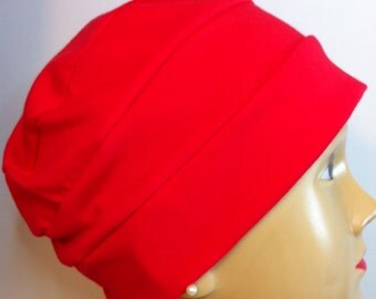 Red Jersey Knit Hat