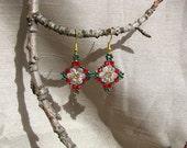 Beaded earrings. 'Christmas Spirit'