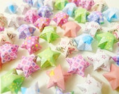 100 Cute Mixed Designs Origami Lucky Stars