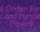 Speical Order for Mandy.  7 pink and purple glitter purse favors.