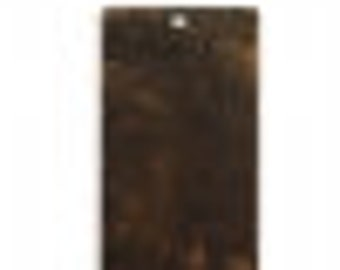 Vintaj 32mm Altered Blank - Rectangle  - Natural Brass (4)