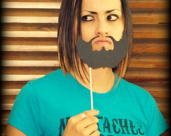 Beard on a Stick-Mustache on a Stick-Photo Props-Photo Booth-Mustache Party-Little Man Party-Little Man-Mustache Theme-Mustache Birthday