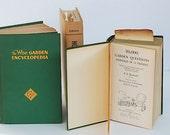 Garden Books, Beautiful Book Lot, Hardcover Books, Wise Garden Encyclopedia, Vintage Book Bundle, How to Garden Book, Home Decor,