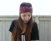 The Alice- Pink and Black Lace Turban Headband