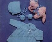 Vintage Knit Pattern B005 PDF Peter Pan Matinee Coat from WonkyZebraBaby