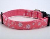 Pink Snowflake Christmas Dog Collar