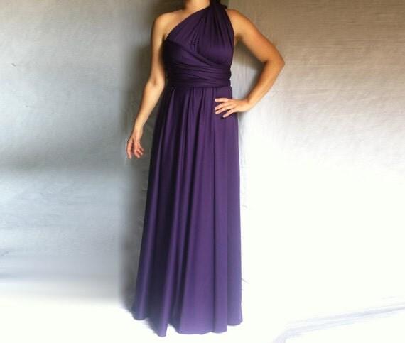 Bridesmaid Dress Infinity Dress / Purple Convertible Wedding Dress Infinity Multi Way Custom order to your size
