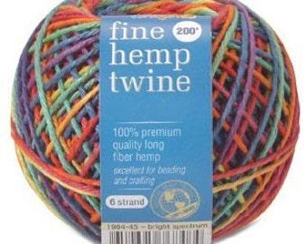 Bright Fine Hemp Twine Spools (1984-45)