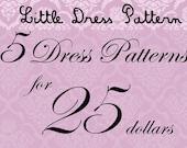 Great Deal - Buy 5 PDF Kids Dress Pattens for 25 Dollars
