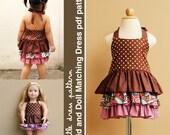 Brandy Kid and Doll Matching Dress - PDF Pattern, PDF Downloadable, Easy Pattern