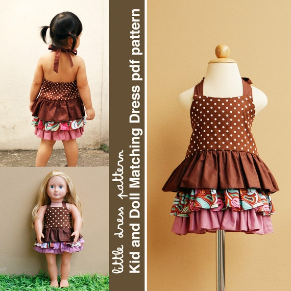 Brandy Kid and Doll Matching Dress - PDF Pattern, PDF Downloadable, Easy Pattern