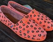 Fluorescent Orange Palmetto Women's Classics Leopard print TOMS