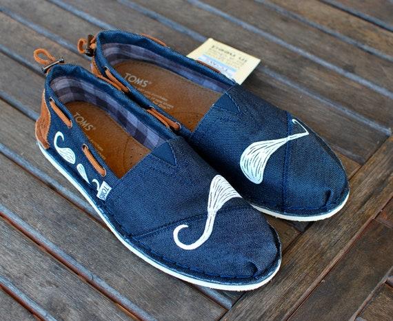 Many Mustache Denim Bimini Women's Stitchouts TOMS shoes