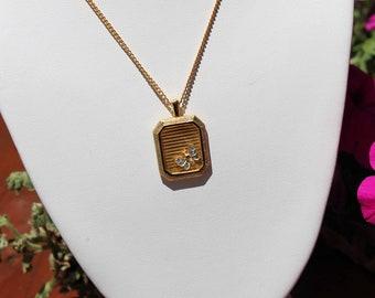 Vintage Necklace and Bracelet Set Rhinestone Butterfly Pendant R. Mandle