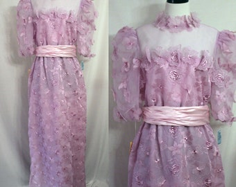 Jill Richards Evening Formal Gown Long Lilac Purple 80's