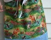Bambi Skirt, Little Girl with a Ribbon Tie Waist