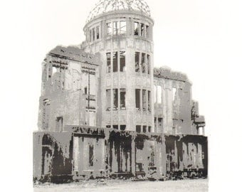 The Atom Bomb Dome, Hiroshima : a limited edition silkscreen print