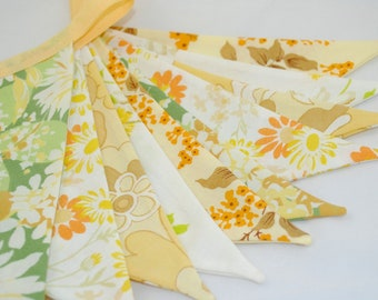 Pretty Vintage Party Bunting - SUMMER MEADOW - The perfect decoration for Showers, Weddings and Summer Parties