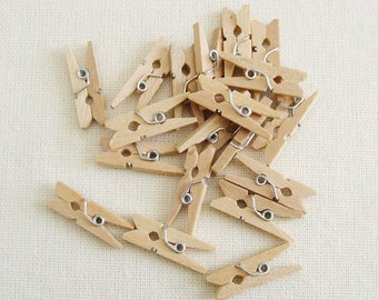 Itty Bitty Clothes Pins Natural Pack of 25