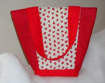 FINISHED Ladybug Out N About Tote Bag Purse by Sew Practical, Mom and Pop Craft