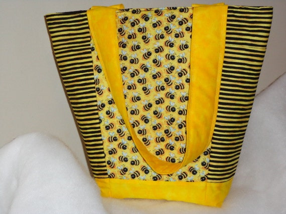Honey Bee Out N About Tote Bag Purse