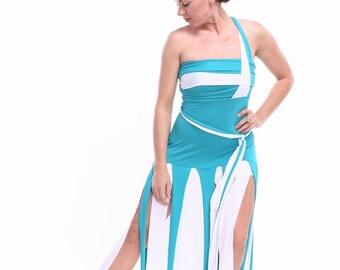 Ribbon bi-color dress for tango