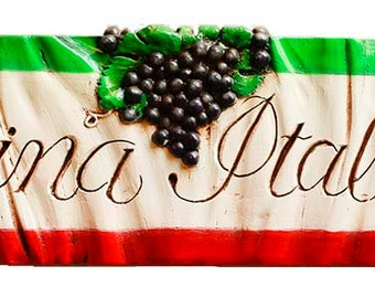 Italian Wall Plaque Cucina Italiana for Italian and Tuscan Home Decor