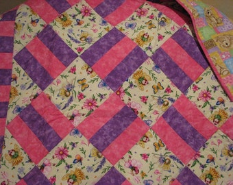 Baby Quilt, Girls Quilt, Baby Blanket, Girls Bed Quilt,Toddler blanket, Crib blanket, Quilt, Baby Girls Quilt, Bed Quilt, Child's Quilt