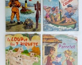 Set of Vintage Children's books French beautiful illustrations by Chader Hemma