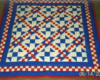 Kaleb's Ladder Baby Quilt Pattern - Beginner - Quarter-Inch Seams