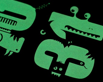 "Halloween Poster: ""10-31"" Glow in the Dark Screen Print"