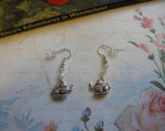 Alice in Wonderland Teapot Earrings