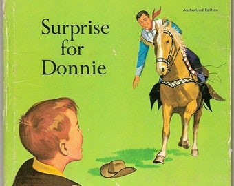 ROY ROGERS Surprise for Donnie Vintage Whitman Tell A Tale Book Illustrated by John Steel