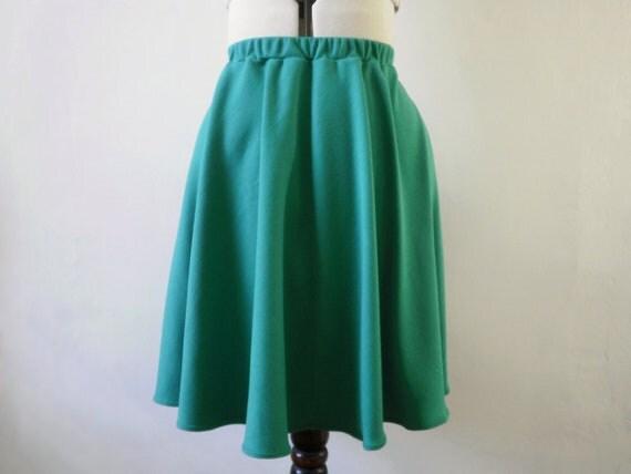 Jade green a line skirt , green mini skirt , short skirt