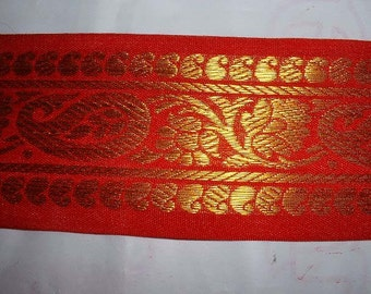 Red Brocade Lace
