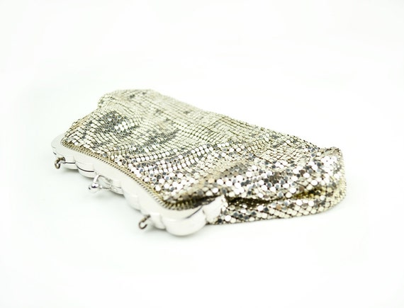 Vintage Silver Bag - Mesh Clutch - Whiting & Davis