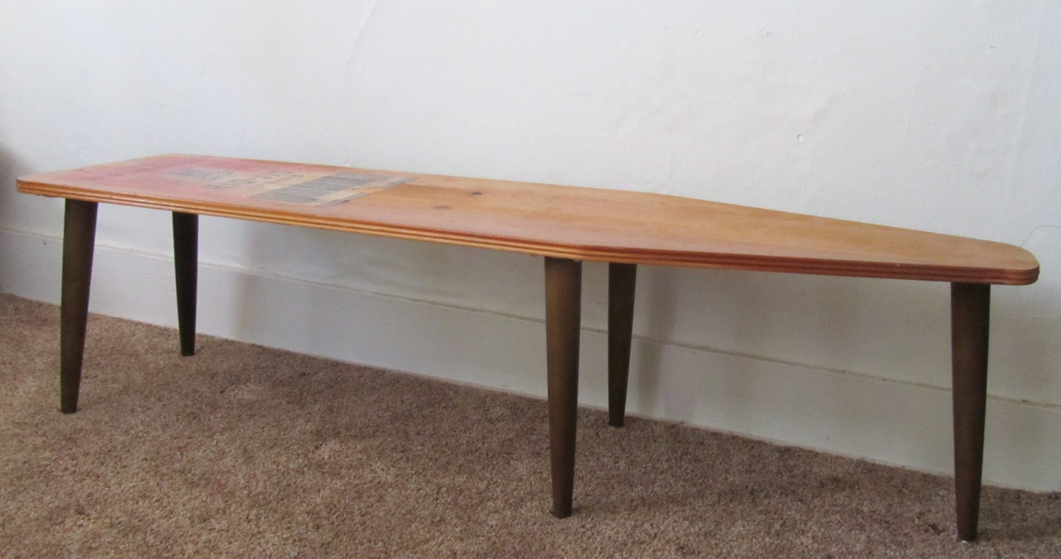 Repurposed Ironing Board Coffee Table Bench